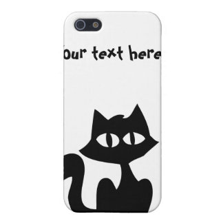 Customizable Black Cat Silhouette Covers For iPhone 5