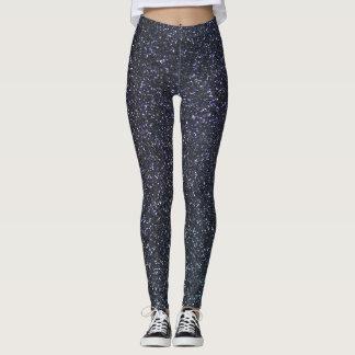 Customizable Black Glitter Leggings