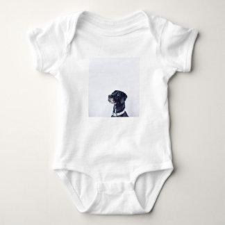 Customizable Black Labrador Retriever Baby Bodysuit