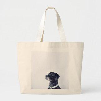 Customizable Black Labrador Retriever Large Tote Bag