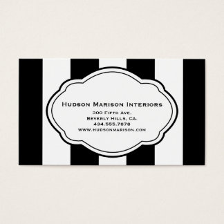 Customizable Black & White Business Card
