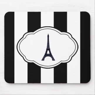 Customizable Black & White Label Mouse Pad