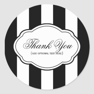 Customizable Black & White Sticker Label