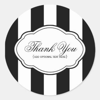 Customizable Black & White Sticker Label