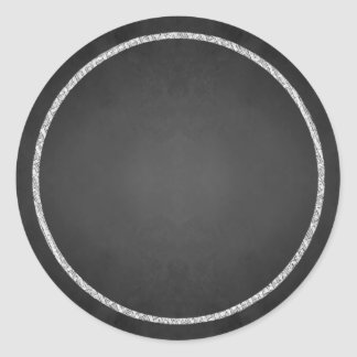 Customizable Blank Faux Chalkboard Stickers