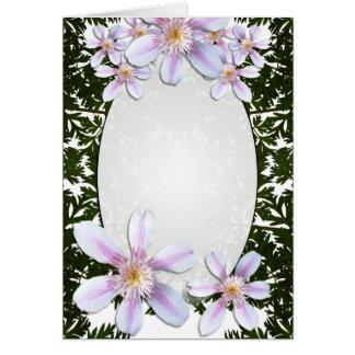 Customizable Blank Flowers Card