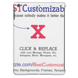 Customizable Blank Gift Template iPad Air Cases