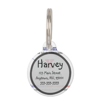 Customizable Blank Gift Template Pet Tag