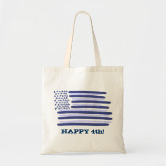 Customizable blue American flag 4th july bag