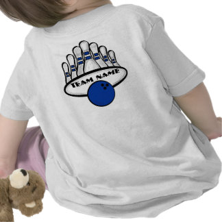 Customizable blue bowling team infant tee