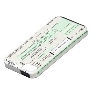 Customizable Boarding Pass - Iphone 5 Case