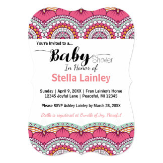 Customizable Boho Multi-Colored Baby Shower Invite