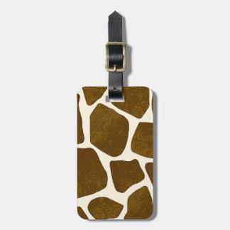 Customizable Bold Giraffe Print Luggage Tag