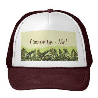 Customizable botanical green fern nature hat