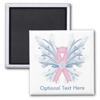 Customizable Breast Cancer Snow Princess Magnet