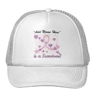 Customizable Breast Cancer Survivor Hat