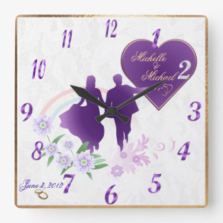 Customizable Bride and Groom Keepsake Wall Clock