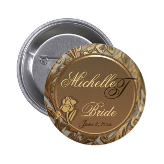 Customizable Brides Elegant Keepsake Button