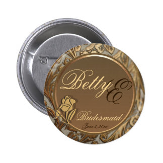 Customizable Bridesmaid Elegant Keepsake Button
