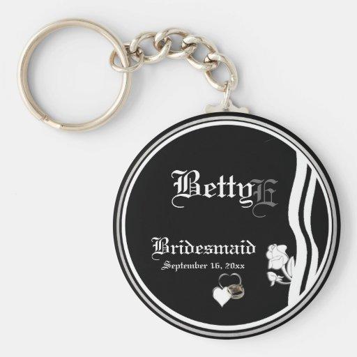 Customizable Bridesmaid Keepsake Keychain