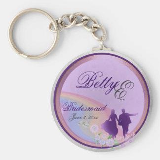 Customizable Bridesmaids Keepsake Keychain