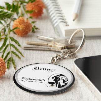Customizable Bridesmaids Keepsake Keychain