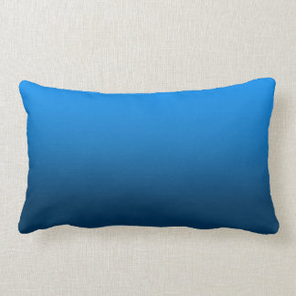Customizable Bright Blue Gradient Pillow