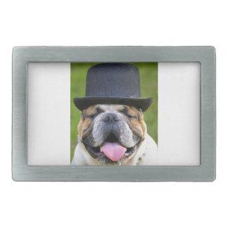 Customizable Bulldog Rectangular Belt Buckle
