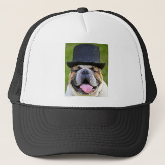 Customizable Bulldog Trucker Hat