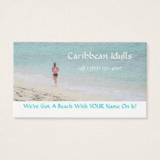 CUSTOMIZABLE BUS.CARD/CARIBBEAN BEACH/JOGGER