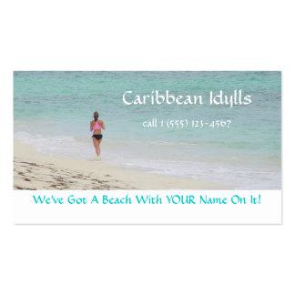 CUSTOMIZABLE BUS.CARD/CARIBBEAN BEACH/JOGGER PACK OF STANDARD BUSINESS CARDS