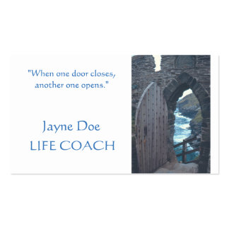 """CUSTOMIZABLE BUSINES CARDS/ """"WHEN ONE DOOR OPENS"""" PACK OF STANDARD BUSINESS CARDS"""