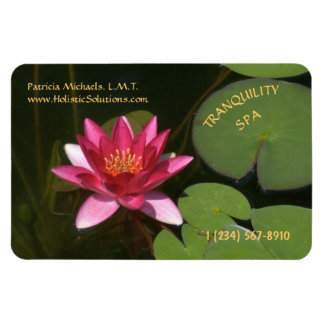 CUSTOMIZABLE BUSINESS CARD MAGNET/LOTUS BLOSSOM MAGNET