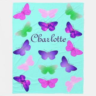 Customizable Butterfly Fleece Blanket