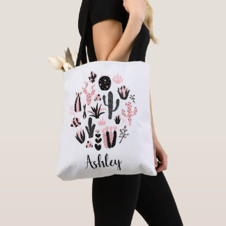 Customizable cactus tote bag