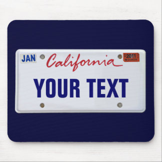 (Customizable) California License Plate Mouse Pad