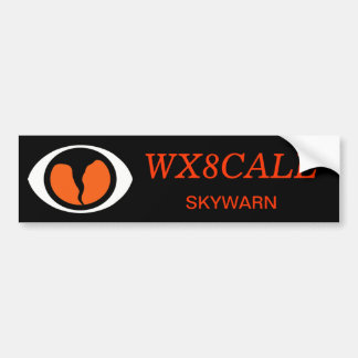 Customizable Call Sign SKYWARN Bumper Sticker