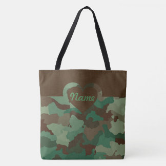 Customizable Camo for Large Tote Bag