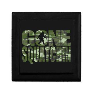 Customizable Camo Gone Squatchin Small Square Gift Box