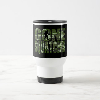 Customizable Camo Gone Squatchin Stainless Steel Travel Mug