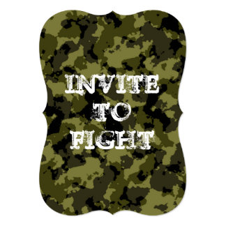 Customizable camouflaged invitation to fight zombi