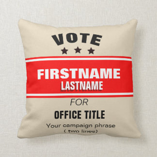 Customizable campaign Cushion