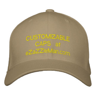 CUSTOMIZABLE CAPS at eZaZZleMan.com Baseball Cap