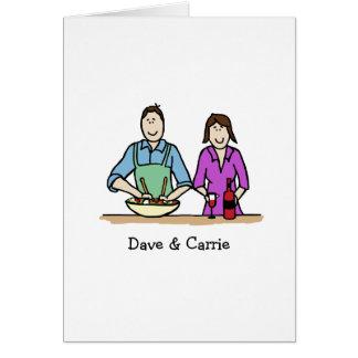 Customizable card- cooking couple card