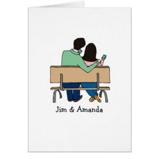 Customizable card- smartphone couple card