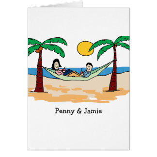 Customizable card- vacationing couple card