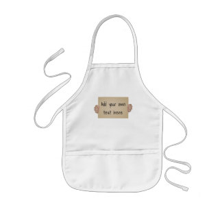 Customizable Cardboard Protest Sign Kids Apron