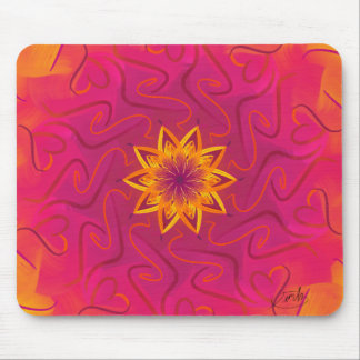 Customizable Carnation (Psychedelic spirograph) Mouse Pad