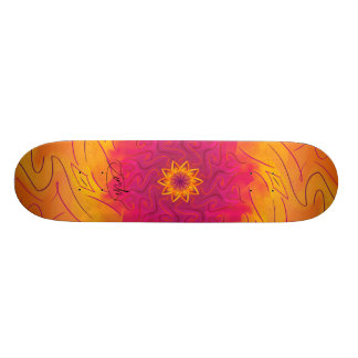 Customizable Carnation (Psychedelic spirograph) Skate Board Deck