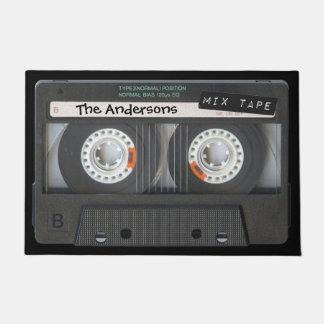 Customizable Cassette Tape Doormat